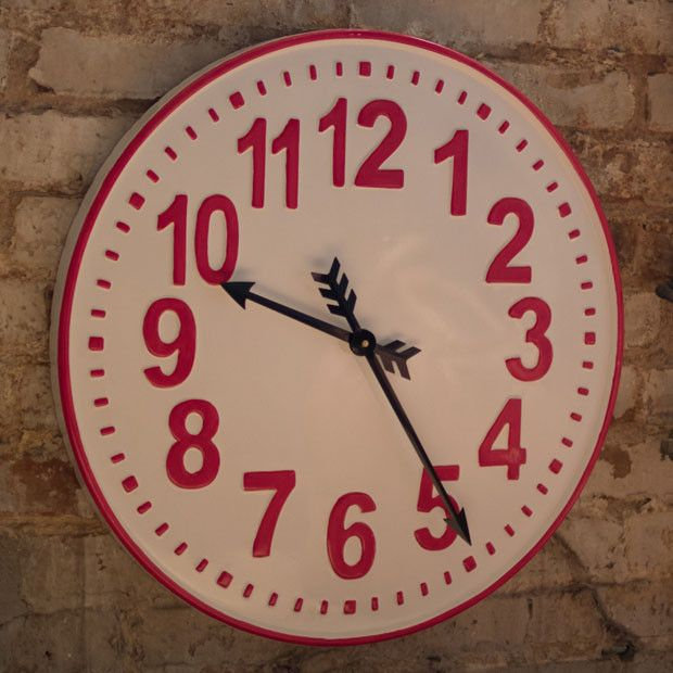 Round Enamelware Wall Clock