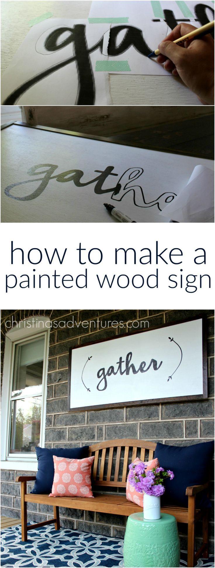 DIY Large Wood Sign Tutorial. #DIYLargeWoodSign #diyprojects #diyideas #diyinspi...