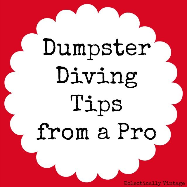 Dumpster Diving Tips - from a Pro!! Everything you need to know to get great fre...