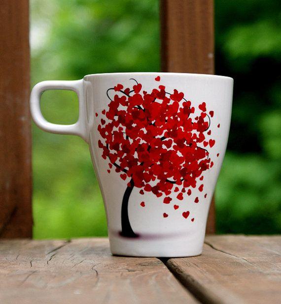 So lovely! Tree mug!!! Such an easy DIY TOO
