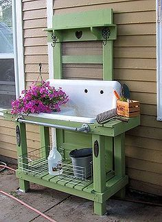 Outdoor Decoratinggardening Potting Bench Outdoor Living