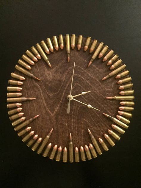 Clocks Decor Bullet Clock With Inert Ammo Great Gift
