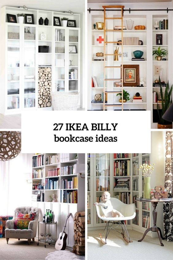 Decor Hacks 27 Awesome Ikea Billy Bookcases Ideas For Your