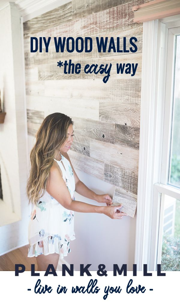 We believe in living in walls you love. Reclaimed wood planks with easy peel and...