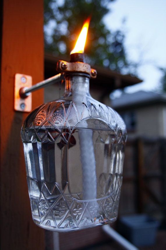 Decorative Bottles Crown Royal Tiki Style Porch Torch
