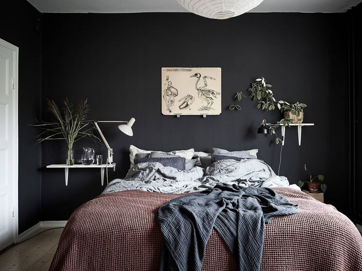 Dark and characterful bedroom