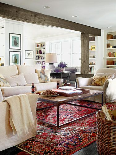 This room is not only beautiful; it's practical too! The slipcovers are wash...