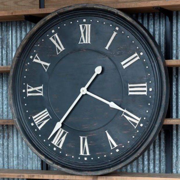 Aged Metal Wall Clock #clock