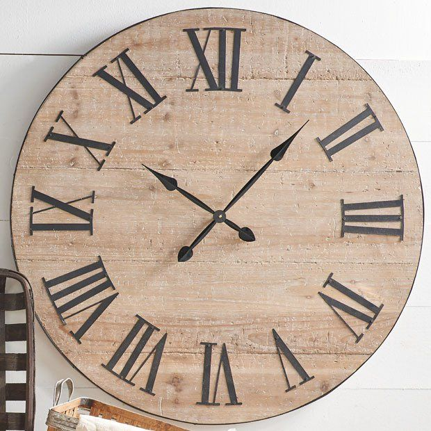 Farmhouse Fir Wood Wall Clock #wallclock #clock