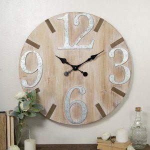 Large Number Wood Wall Clock #clock #woodenclock