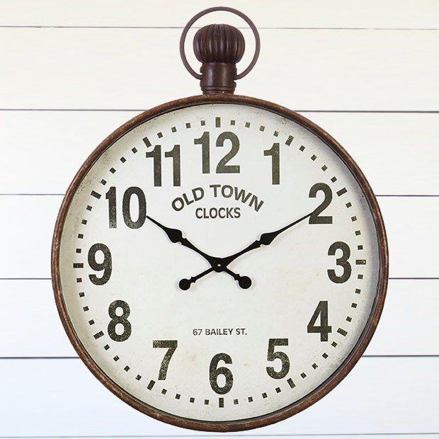 Old Town Metal Wall Clock