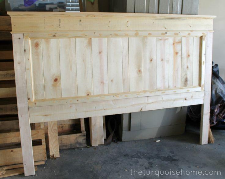DIY wood headboards | DIY Farmhouse Headboard {how to}. #diyprojects #diyideas #...