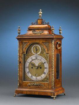 Antique Clocks, English Clocks, George II Bracket Clock ~ M.S. Rau Antiques