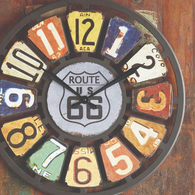 License Plate Wall Clock #licenseplate #clock #route66