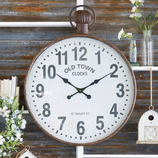 Old Town Iron Wall Clock #clock