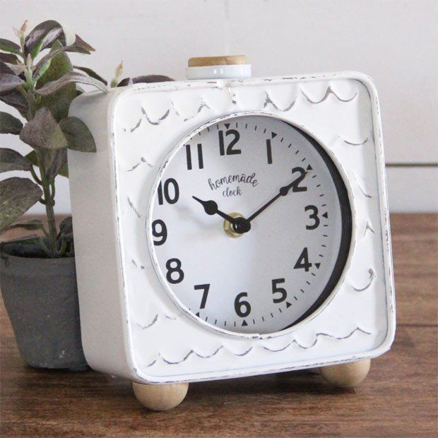 Whimsical Metal Table Clock #clock #tableclock