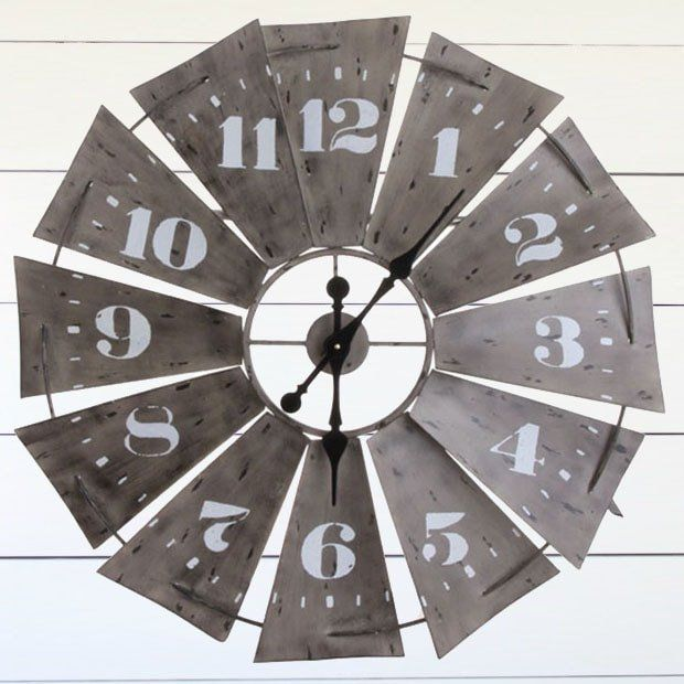 Windmill Wall Clock #clocks #windmill