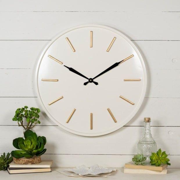 Modern Metal Wall Clock #wallclock