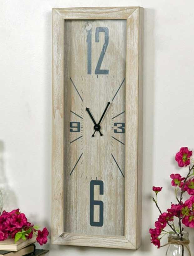 Narrow Wood Wall Clock #narrow #wallclock