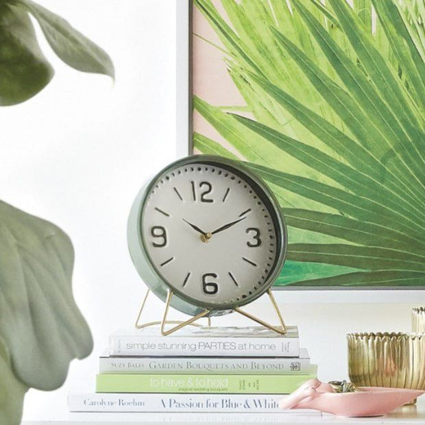 Retro Style Iron Table Clock #clock #tableclock
