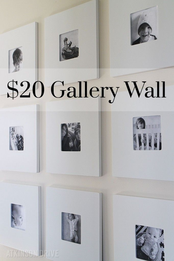 I made this 9-frame black and white gallery wall for less than $20! Keep reading...