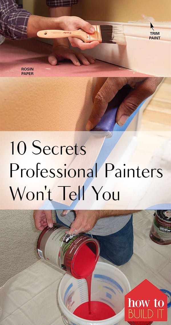 Painting Tips and Tricks, Painting 101, Secrets from Professional Painters, Pain...