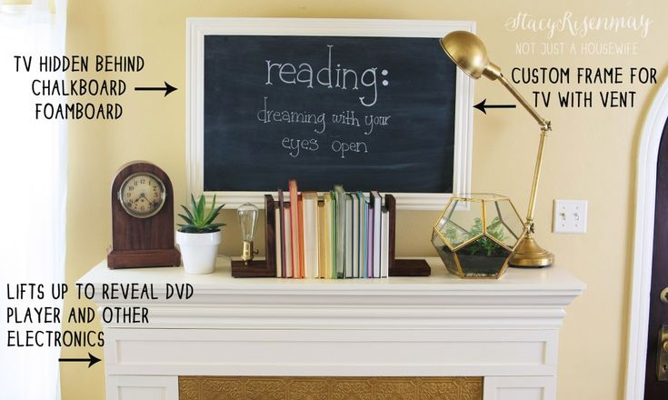 hiding your TV in plain sight Design Challenge: Hiding Electronics with chalkboa...