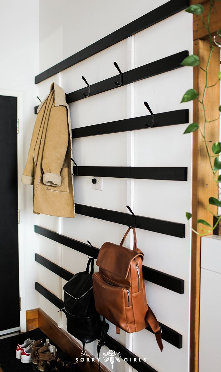 Stay organized and minimal with this DIY coat rack!