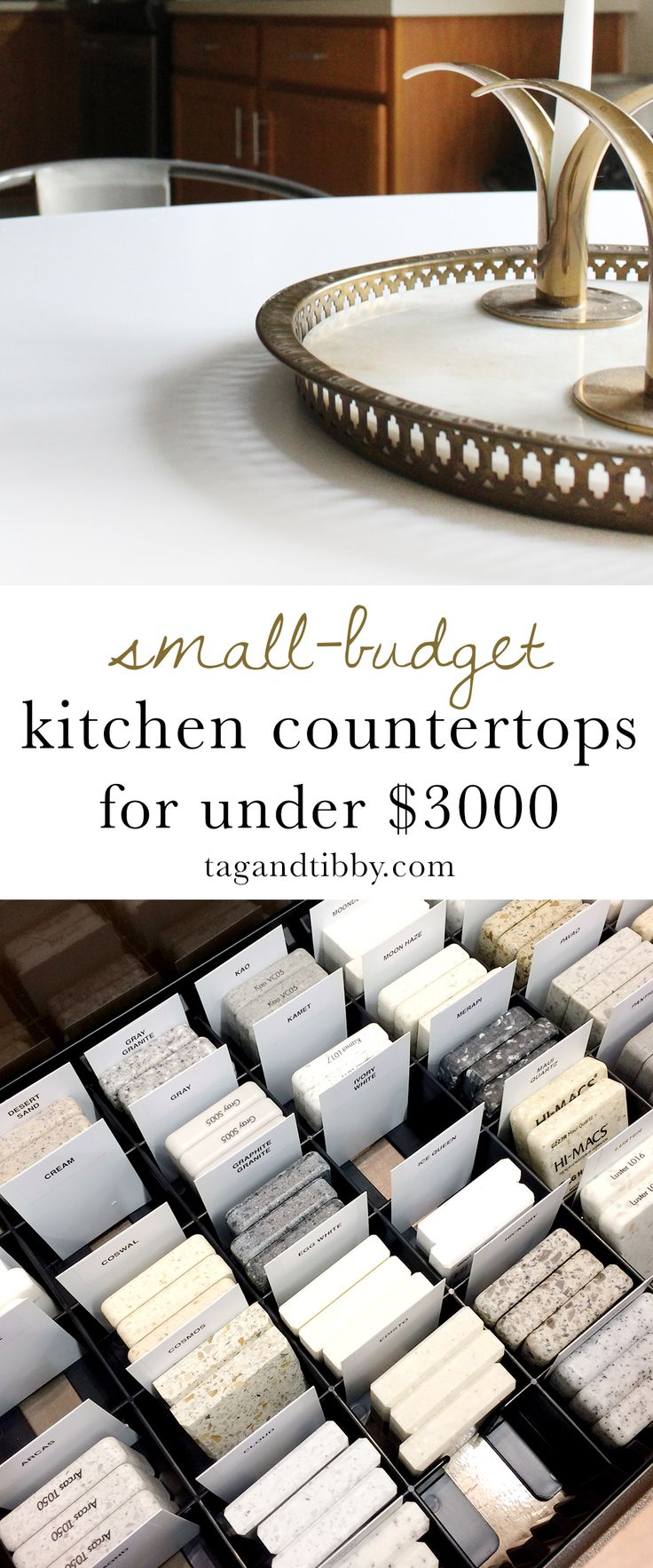 Small-Budget Friendly Kitchen Countertops for Under $3,000 #kitchendesign #kitch...