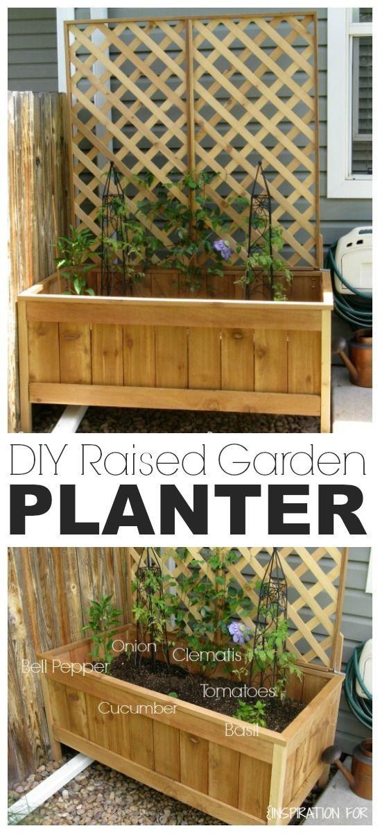 DIY Raised Cedar Garden Planter Tutorial