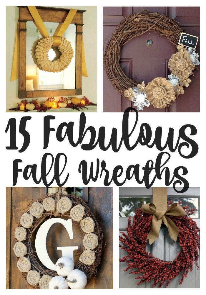 Discover 15 fabulous fall wreaths to greet your visitors this season.