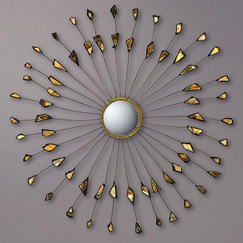 1950  mirror 'sun' by Line Vautrin