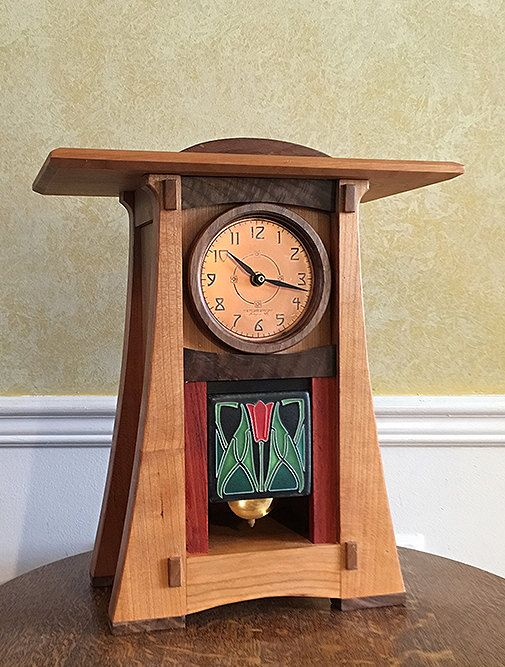 Ashley Craftsman Clock 2 by NewMissionWorkshop on Etsy