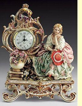 ~ Capodimonte Clock ~ the-rouge-rose2u....