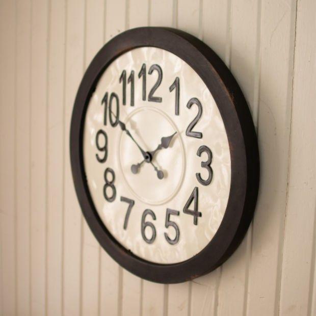 Classic Round Metal Wall Clock #wallclock