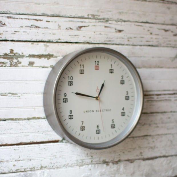 Industrial Schoolhouse Wall Clock #wallclock #clocks