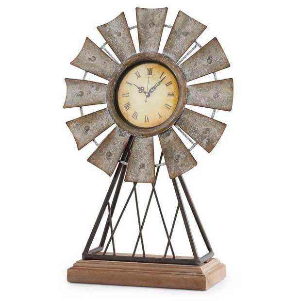 Tabletop Windmill Clock #clock #windmill