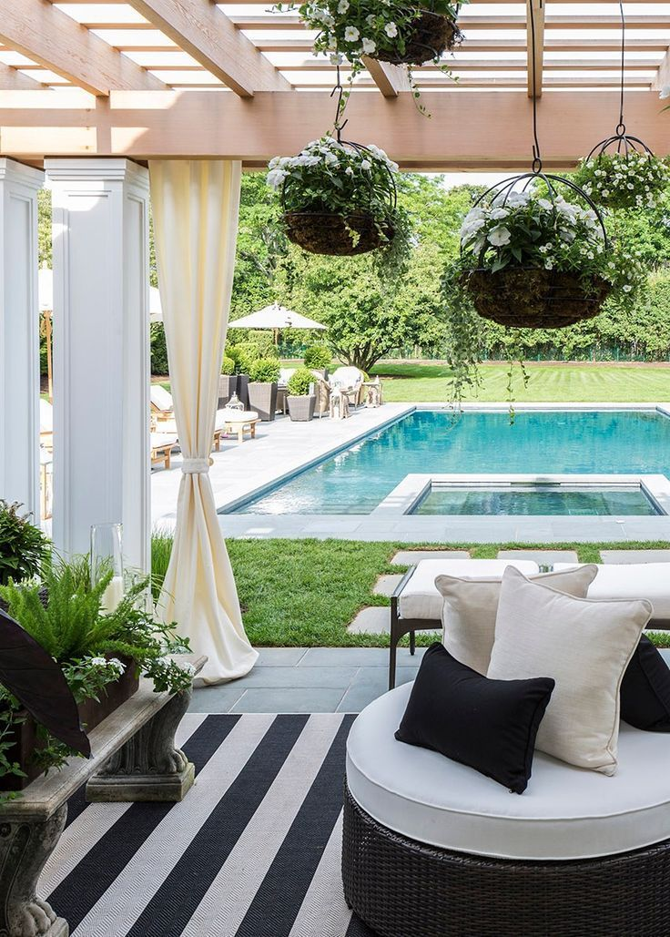 Stunning backyard of this home. So peaceful and stylish.