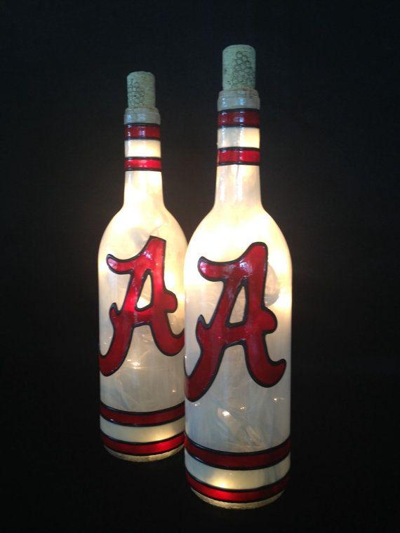Alabama Wine Bottle Lamp