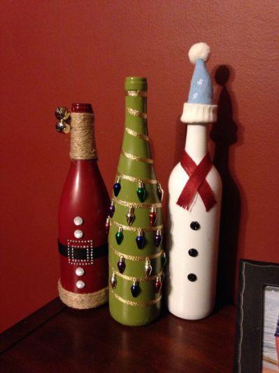 Christmas wine bottle craft | Christmas