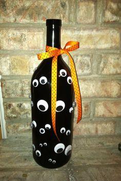 #KatieSheaDesign ?? ? creepy crafty halloween | Creepy Halloween wine bottle | I...