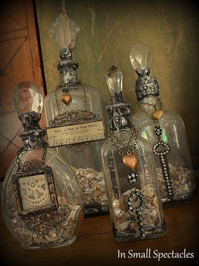 Soldered Bottles In Small Spectacles Sanctuary~Home Accents by In Small Spectacl...