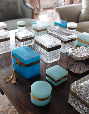 turquoise boxes...
