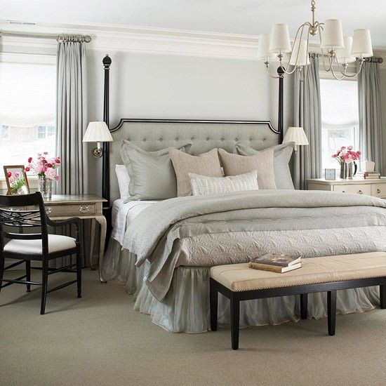 Furniture Bedrooms Gray Tan White Bedroom Notice The End Tables Interesting Tan Bedrooms