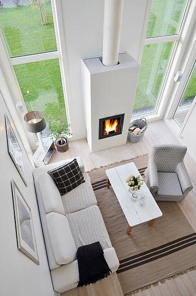 fireplace - love the rug also