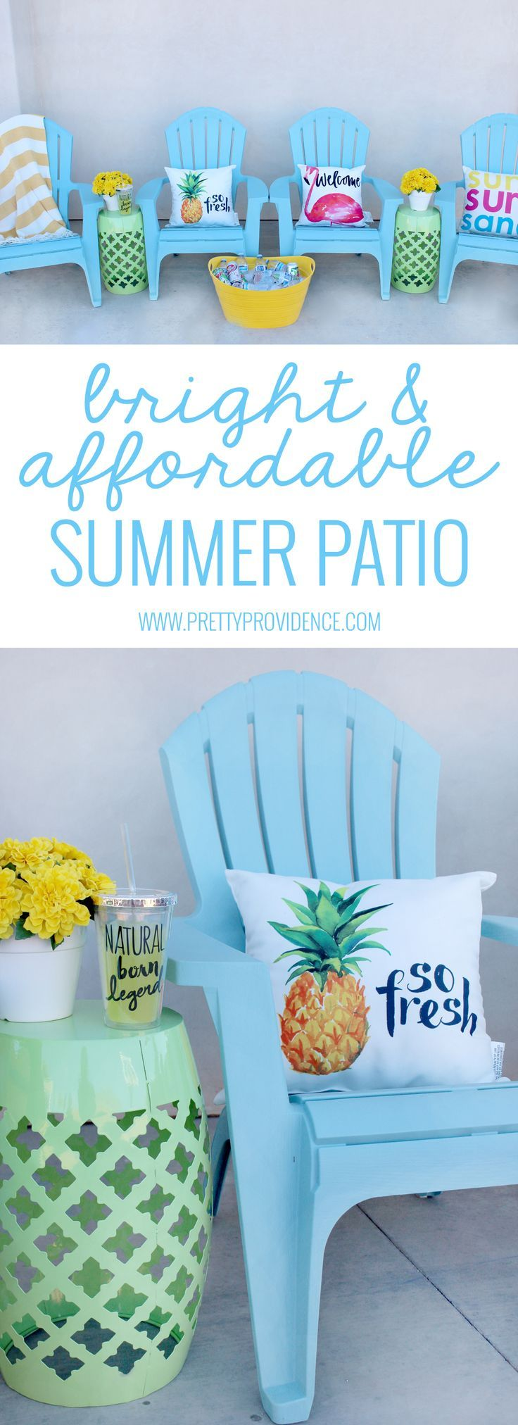 I love how bright and happy this affordable patio space is! It's amazing how...