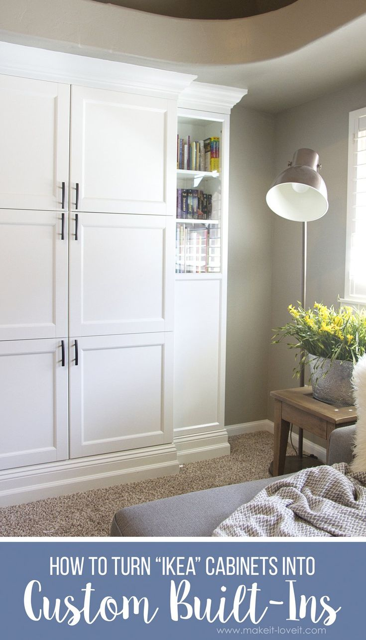 How to Turn Ikea Bookshelves into Custom Built-Ins | via www.makeit-loveit...
