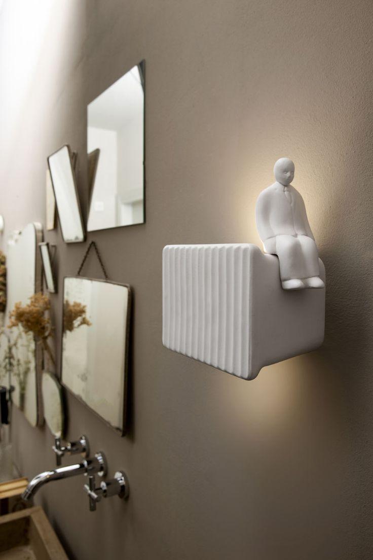 Italian lighting company KARMAN, has released Umarell, a fun wall lamp that was ...