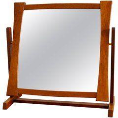 1950s Teak Table Mirror from Glas & Trä, Sweden