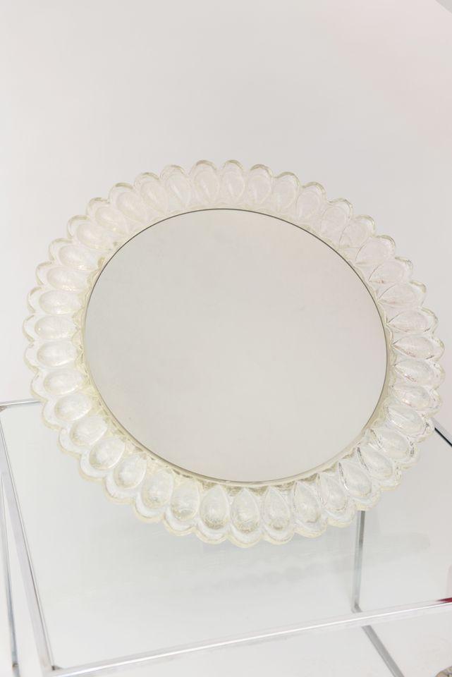 Stunning Swiss Crackled Resin Illuminated Mirror